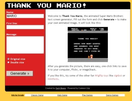 Thank You Mario! Generator