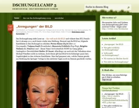 Endlich online: Der inoffizielle Blog zum Dschungelwahn
